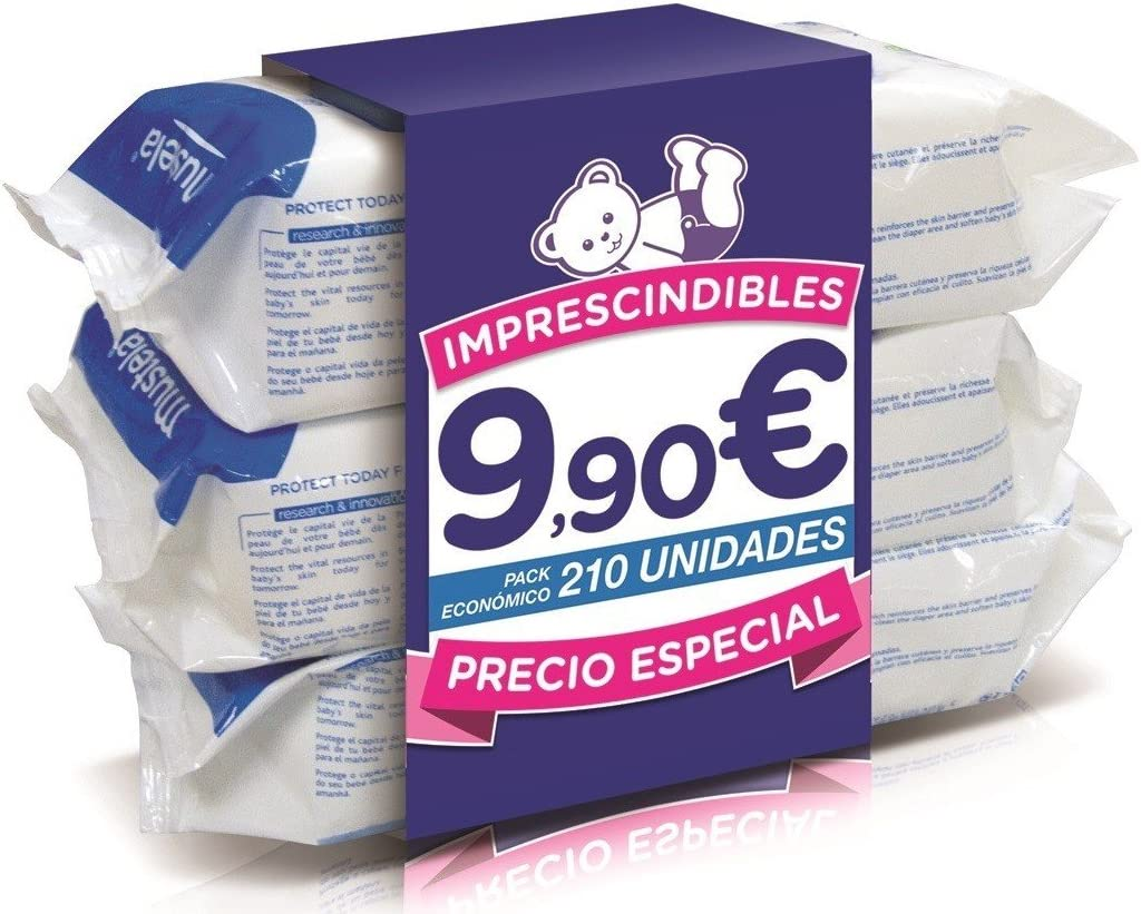 Pack Toallitas Mustela 210 Unidades 3paquetes