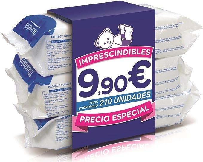 Pack Toallitas Mustela 210 Unidades (3paquetes): Amazon.es: Bebé