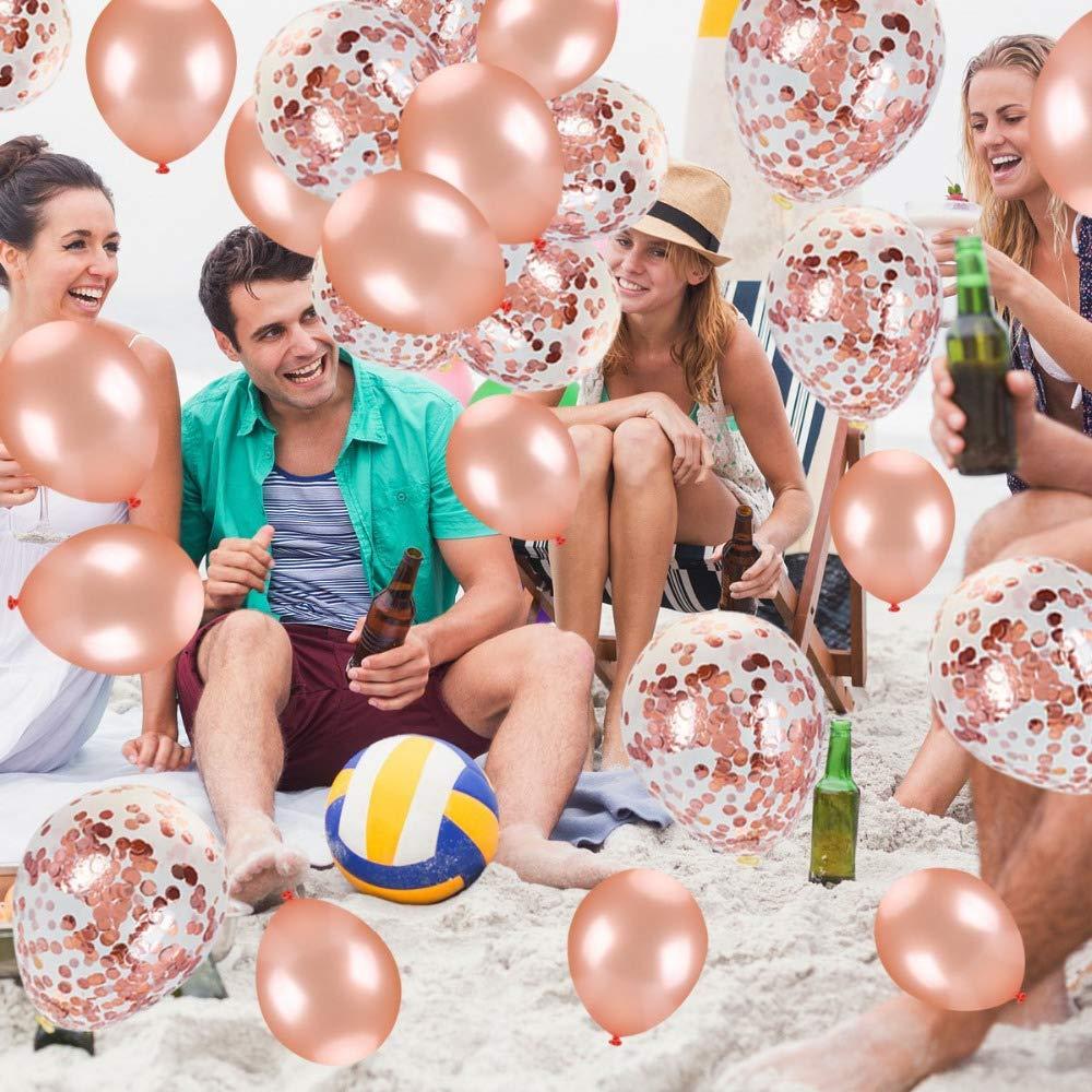 Crazy-M Set de decoraci/ón de cumplea/ños N/úmero 40 Globo de Oro Rosa para Mujeres Decoraci/ón de Fiesta de cumplea/ños