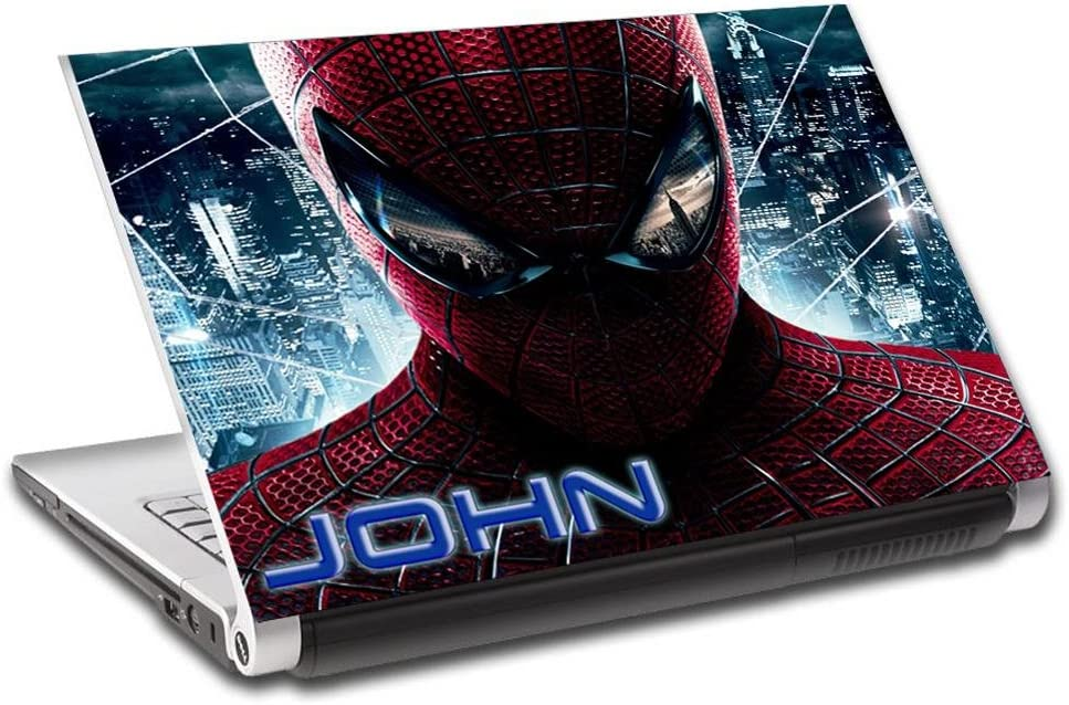 """Spider-Man Personalized LAPTOP Skin Decal Vinyl Sticker ANY NAME Marvel L511, 14"""""""