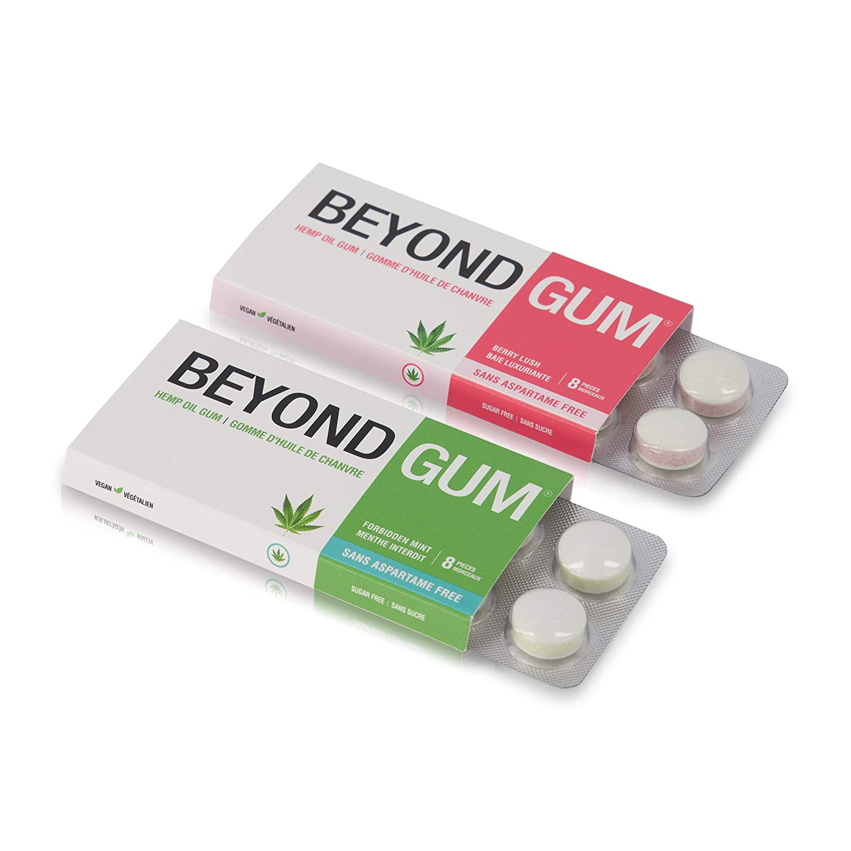 Beyond Gum Mint Vegan Sugar-Free Non-GMO Oil Gum Chewing Hemp Without Aspartame