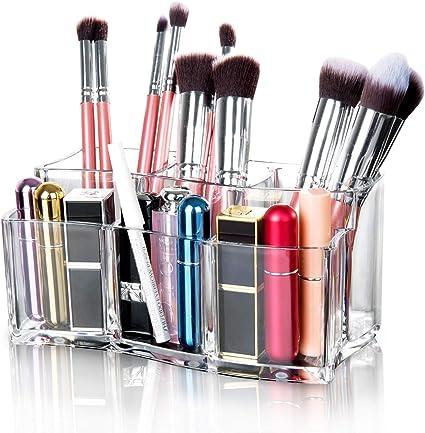 Maojuee Organizador de Maquillaje -Componen la Caja de Almacenaje Cosmético Almacenamiento Organizador de Acrílico para Guardar Cosméticos, Maquillaje: Amazon.es: Belleza