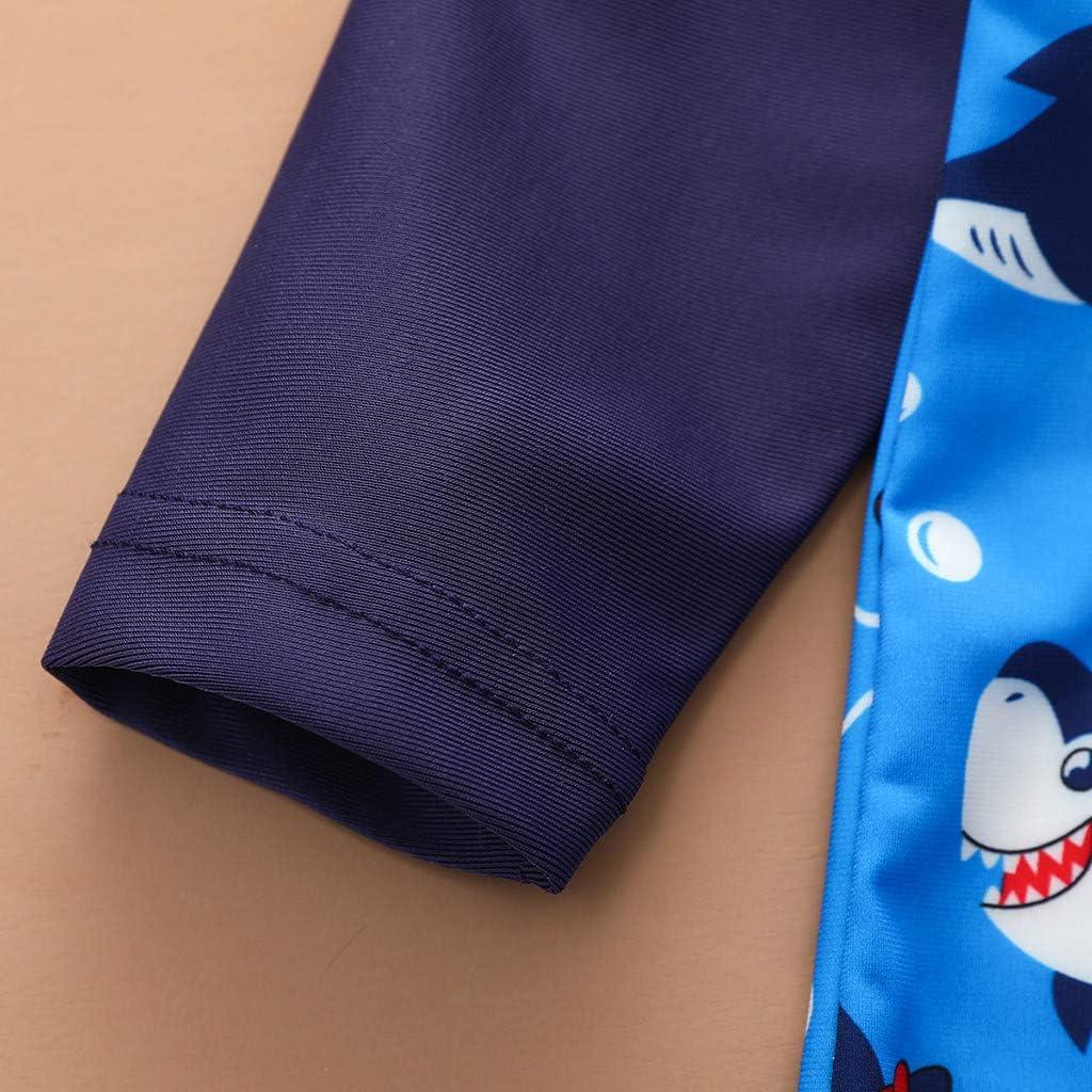 Toddler Baby Boys Girls Cartoon Swimsuit Jumpsuit Swimwear Bathing Suit Girls Swimsuit Cute Bikinis Kids Girls Two-Piece Tankini Set Top with Boy Short