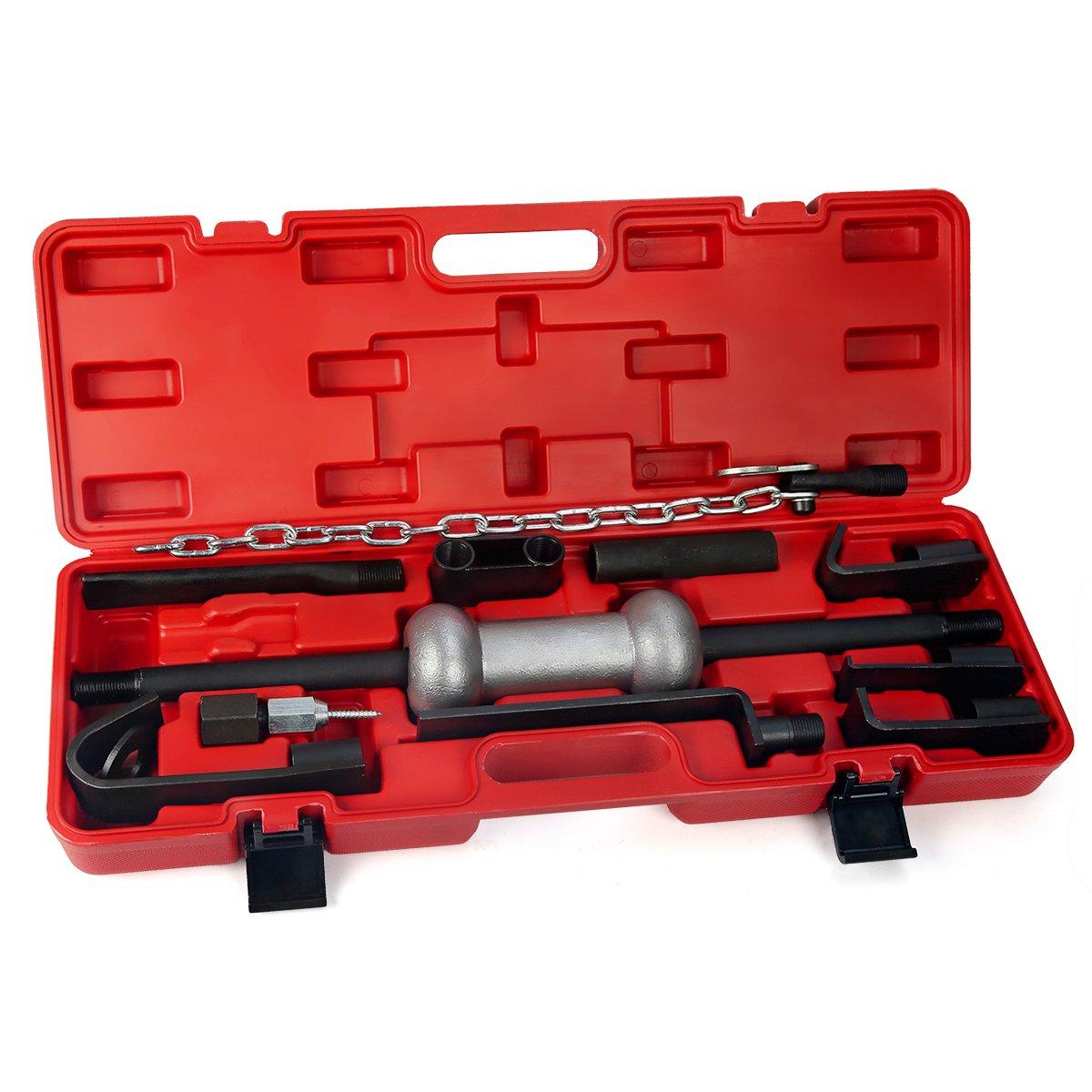XtremepowerUS Heavy Duty 13 Pc. 10 Lb. Dent Puller Body Set Tool Kit