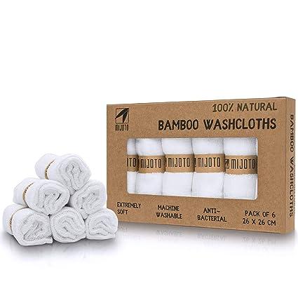 5 unidades minoto paños de limpieza facial de 100% bambú – suave y reutilizables de
