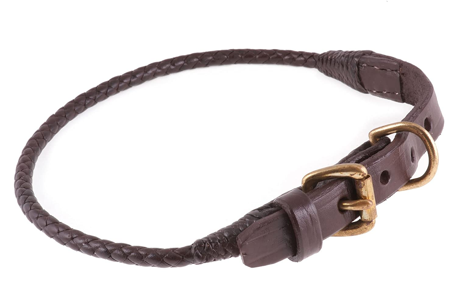 Alvalley Braided Collar with Buckle for Dogs 20in Medium