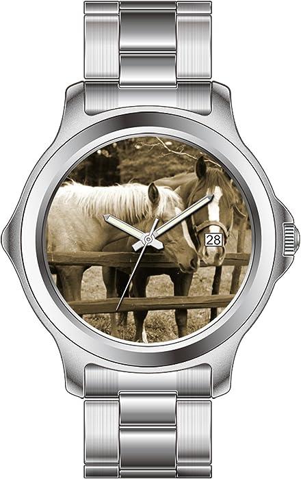 txmy personalizado relojes de moda banda de acero inoxidable reloj de pulsera, reloj mejores amigos