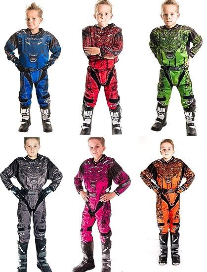 Motocicleta trajes Wulf Sport Aztec Niños Motocicleta combinado ...