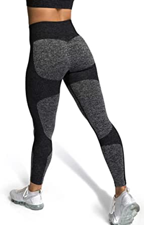MOYOOGA Womens High Waisted Impact Seamless Workout Leggings Tummy Control Yoga Pants