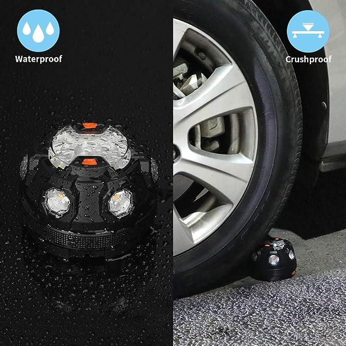 Warnlicht f/ür Auto LKW Boot Warnblitzer Warnsignal Blinklicht POWERGIANT LED Warnleuchte LED Rundumleuchte Warnblinkleuchte PKW Notfallleuchte mit Magnetfu/ß und Haken Kit Fahrrad Motorrad