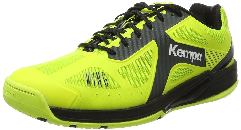 Gelb (Gelb Fluo Anthracite schwarz 03) Kempa Unisex-Erwachsene Wing Lite Caution Handballschuhe
