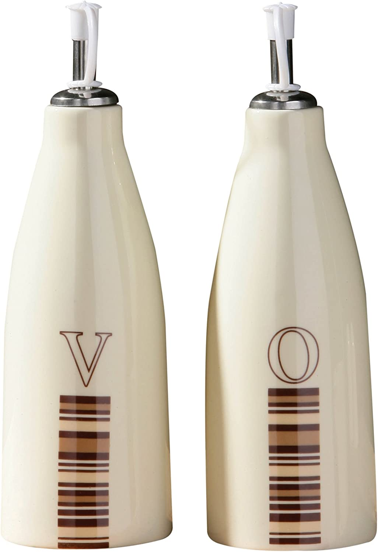Cream Premier Housewares Neapolitan Oil and Vinegar Set