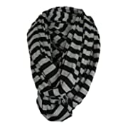 Multi-Use Baby Breastfeeding Infinity Nursing Cover/Nursing Scarf - Tykes & Tails Black/Gray Stripe Pattern - Many Colors and Patterns of Premium Breastfeeding Covers