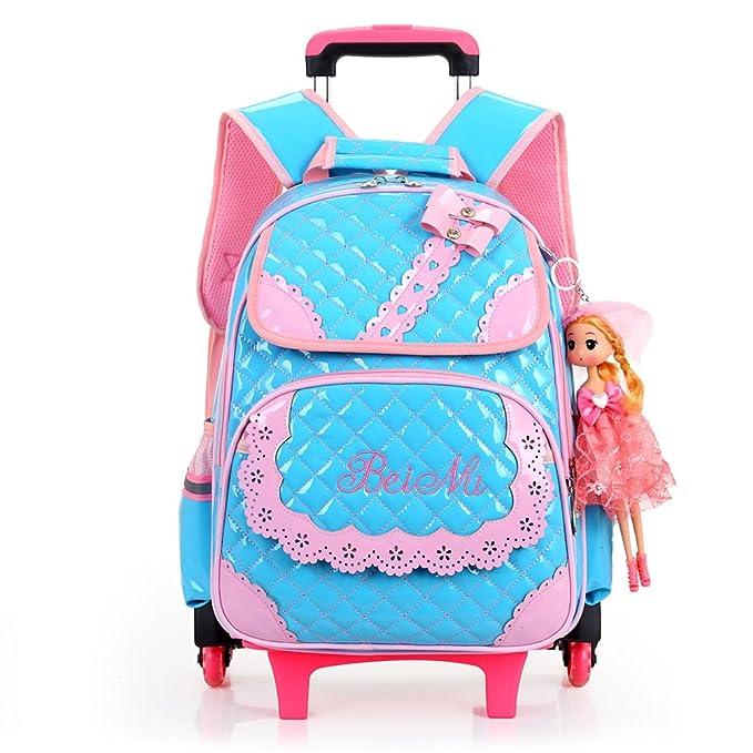 Zhuhaitf Moda Multifunción Kids Rolling Bags Jansport Mochila Escolar con Ruedas de Seguridad Extraíble para Niños y Niñas Múltiples Estilos para Su ...