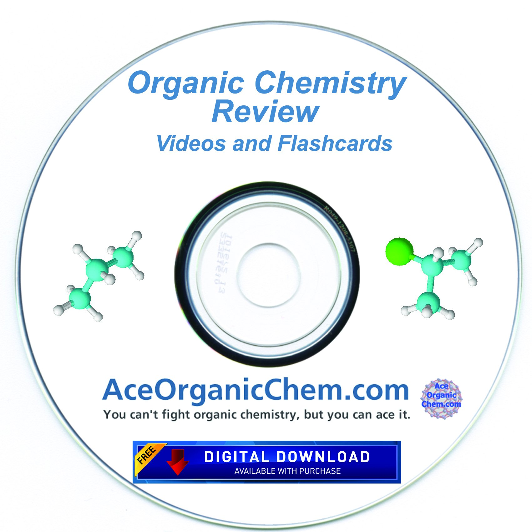 Condensed Organic Chemistry Help DVD with Digital Download option- Organic Chemistry Study DVD with Complete Course Review Videos - by AceOrganicChem by AceOrganicChem