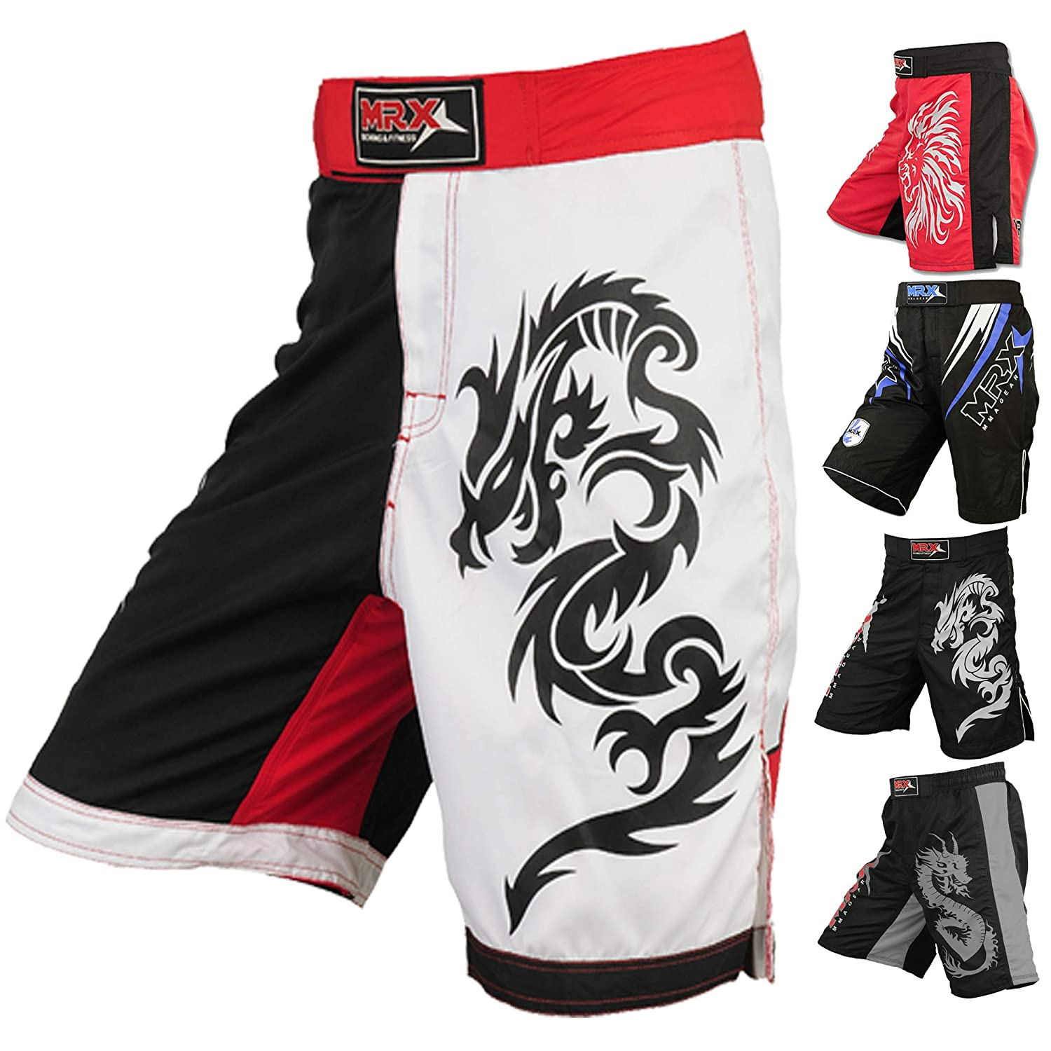 MRX MMA Fight ShortsストレッチPenals Blk / Rd / Wht B00A7ZOAX6 BLK/RED/WHT xx-large