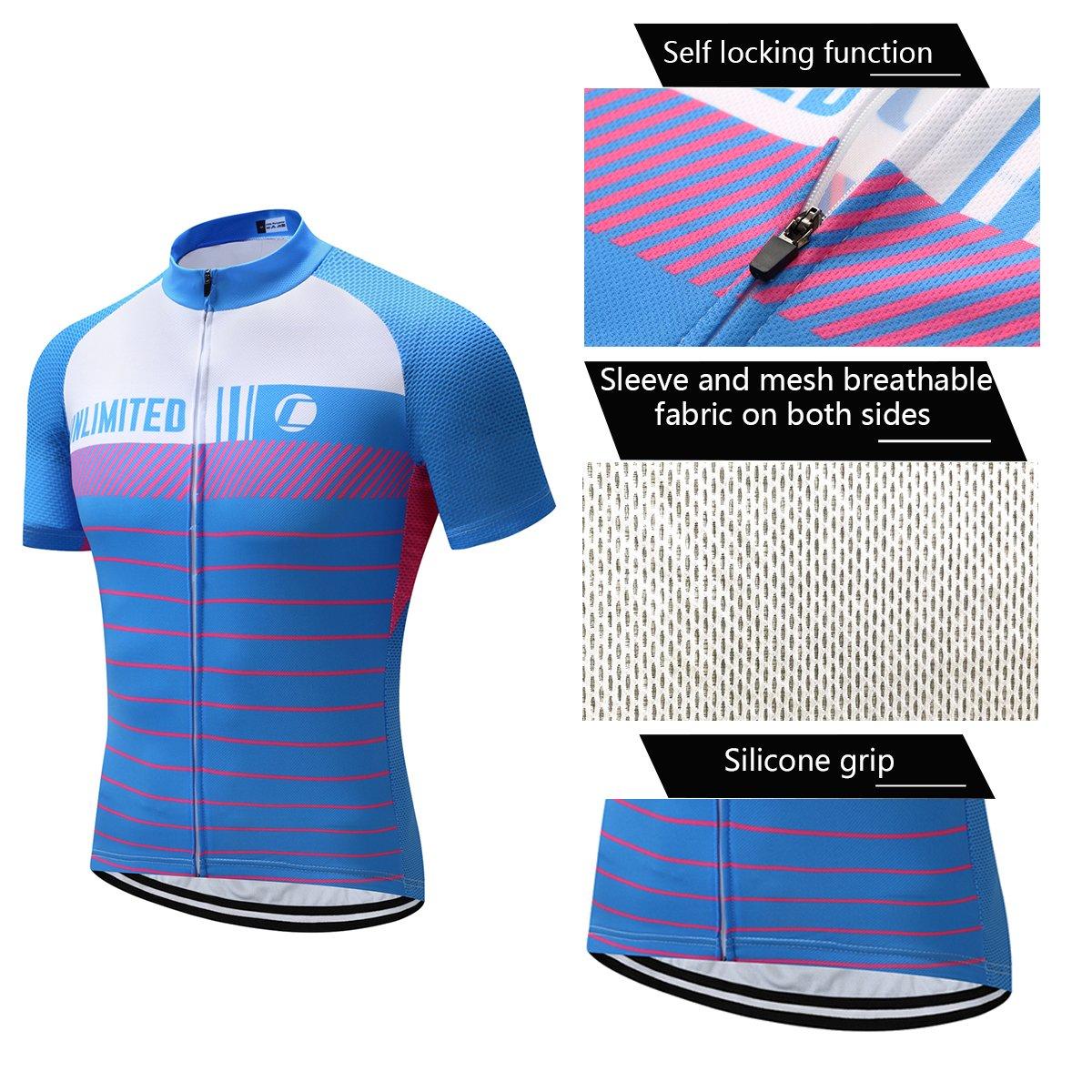 Amazon.com  Coconut Ropamo Men s Short Sleeve Cycling Jersey Bike Shirt  Men s Cycling Bib Shorts with 4D Gel Padded - Italy MITI Non-Slip  Clothing 43f978c47