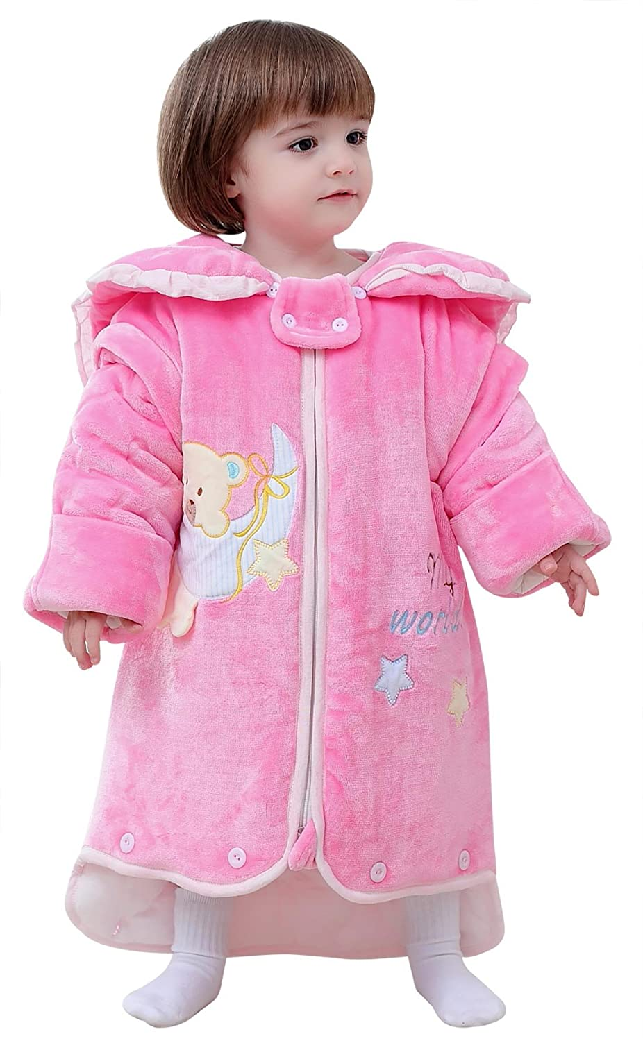 Happy Cherry Baby Thicken Cotton Romper Warm Lengthen Sleepwear Onesie Pajamas