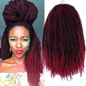 Amazoncom 3packs Marley Braid Hair Afro Twist Marley Crochet Hair