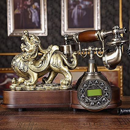 Amazon com: ZXIU phone Antique Metal Resin Family Living Room
