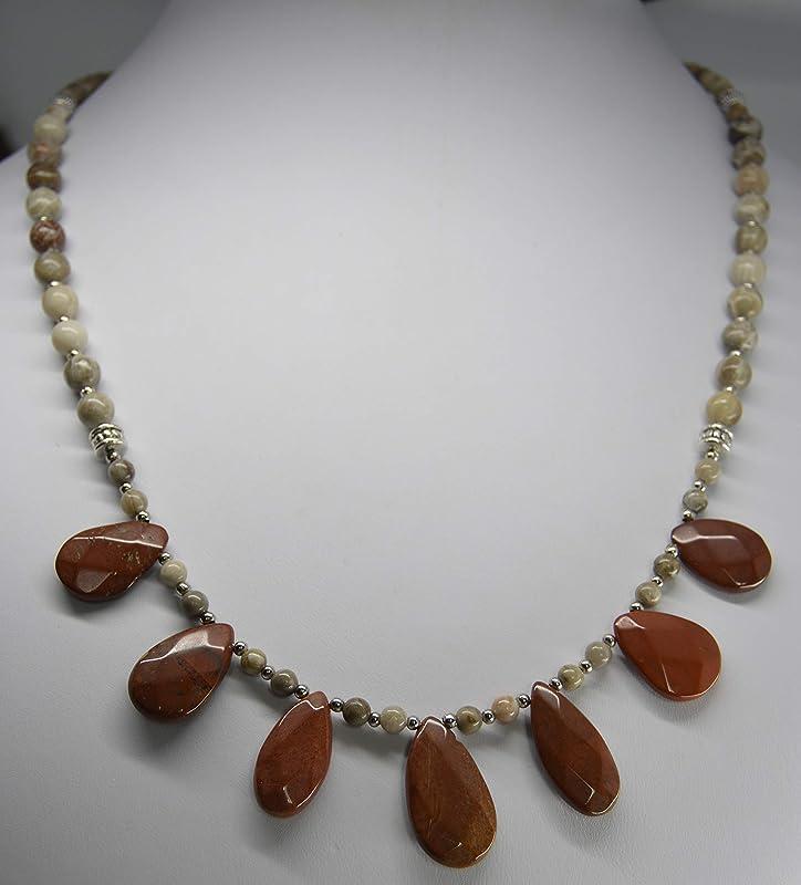 Polished Specimen 43.3 carats Oval Cabochon Michigan Charlevoix Stone 33 x 25 mm