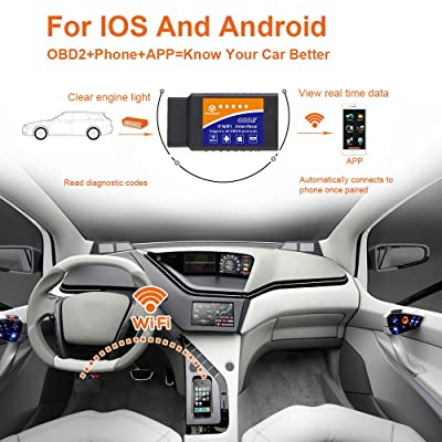 Car WIFI OBD 2 Scan Tools is one of the best Diagnostic Tool for iOS & Andorid that works on ALL 1996 and newer PETROL cars