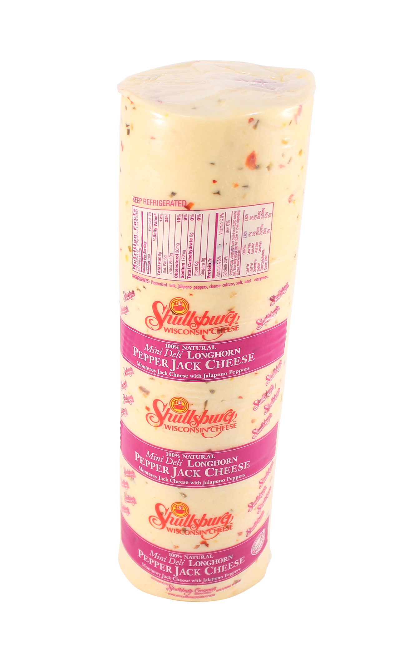 Shullsburg Creamery - Pepper Jack Cheese - 6 Pound Mini Deli Horn