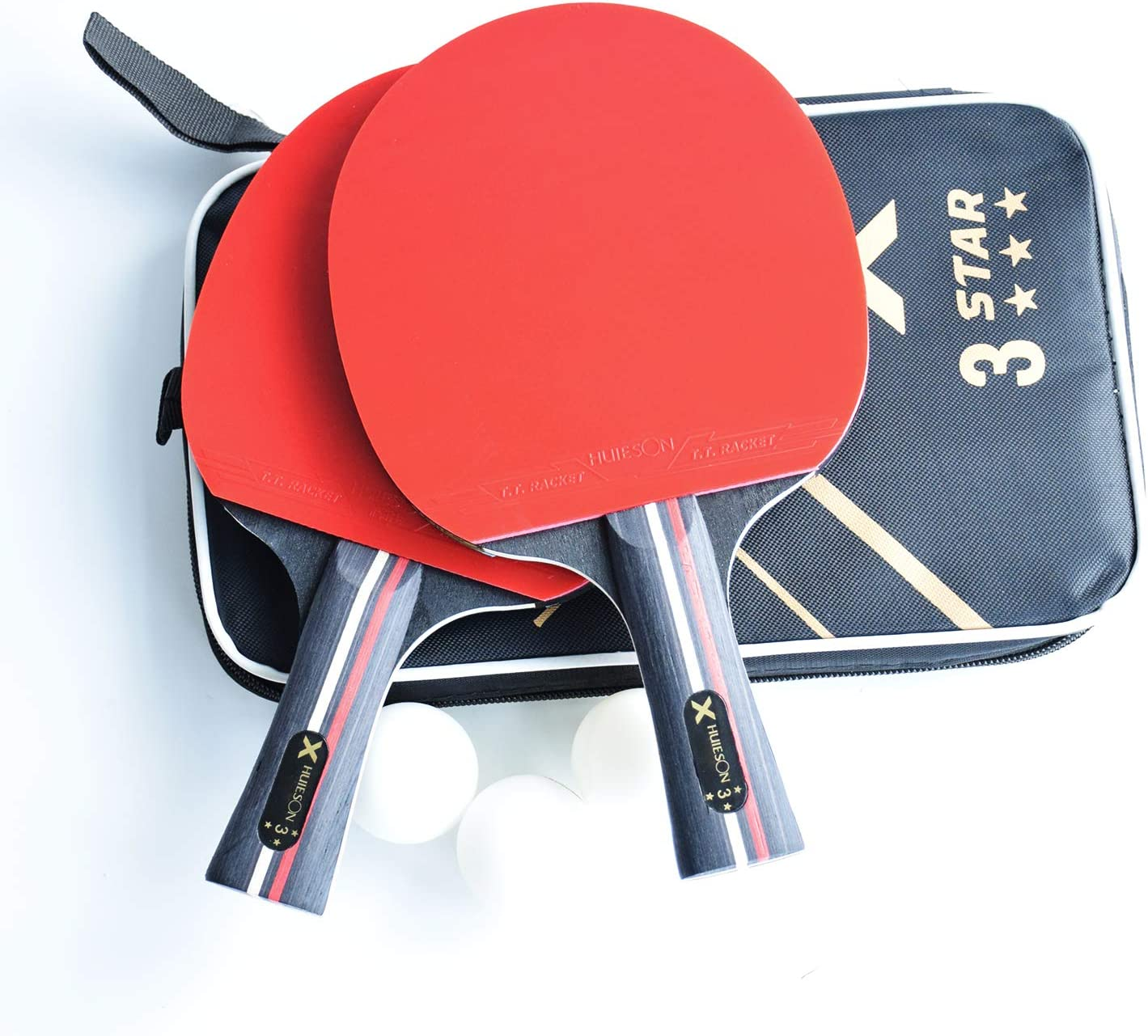 Amazon.com: ahomie paquete de 2 juego de tenis de mesa ...