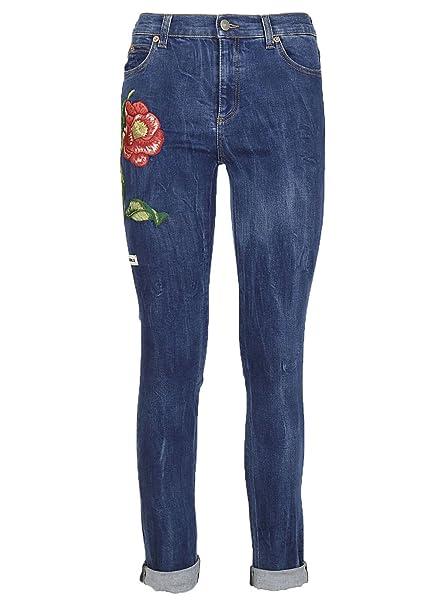cheap for discount 58f1e 5e281 Gucci Jeans Donna 470225XR8254271 Cotone Blu: Amazon.it ...