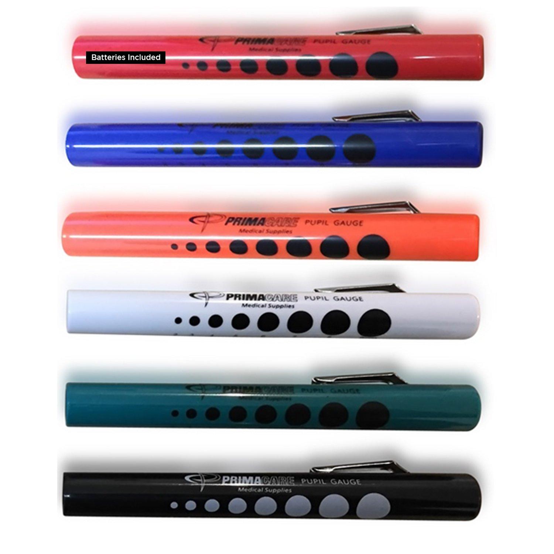 Primacare Lampe stylo de diagnostic avec jauge pour les pupilles DL-9224