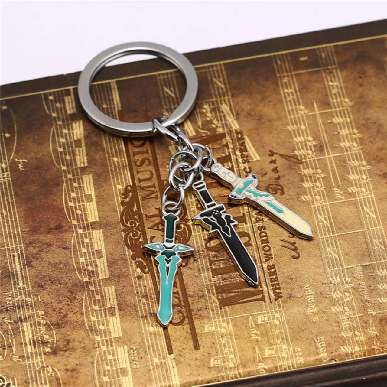 Amazon.com : Sword Art Online Keychain SAO Elucidator ...