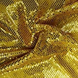 Faux Sequin Knit Fabric Shiny Dot Confetti for Sewing Costumes Apparel Crafts by the Yard (1 YARD, Gold) offers