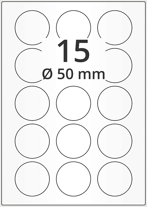 10 Bogen Etiketten weiß 52,4 x 29,7 mm selbstklebend je 40 Aufkleber pro Blatt