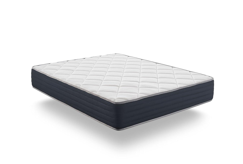 Naturalex Colchon viscoelastico - Aura - Núcleo tecnología HR Blue Latex - Viscoelastica Thermosoft - Reversible - 7 Zonas de Confort - 25 cm (135 x 190 ...