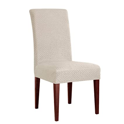 CHUN YI Seersucker Chair Protector Jacquard Polyester Spandex Fabric  Stretch Dining Chair Covers Chair Slipcovers Furniture c0d5ba64e
