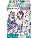 Make It Real 3203 Fashion Design Sketchbook: Digital Dream. Inspirational Fashion Design Coloring Book for Girls