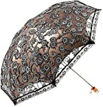 Orgrimmar Ladies Lace Parasol Umbrella Anti-UV Protection Sun Shade UPF 50+