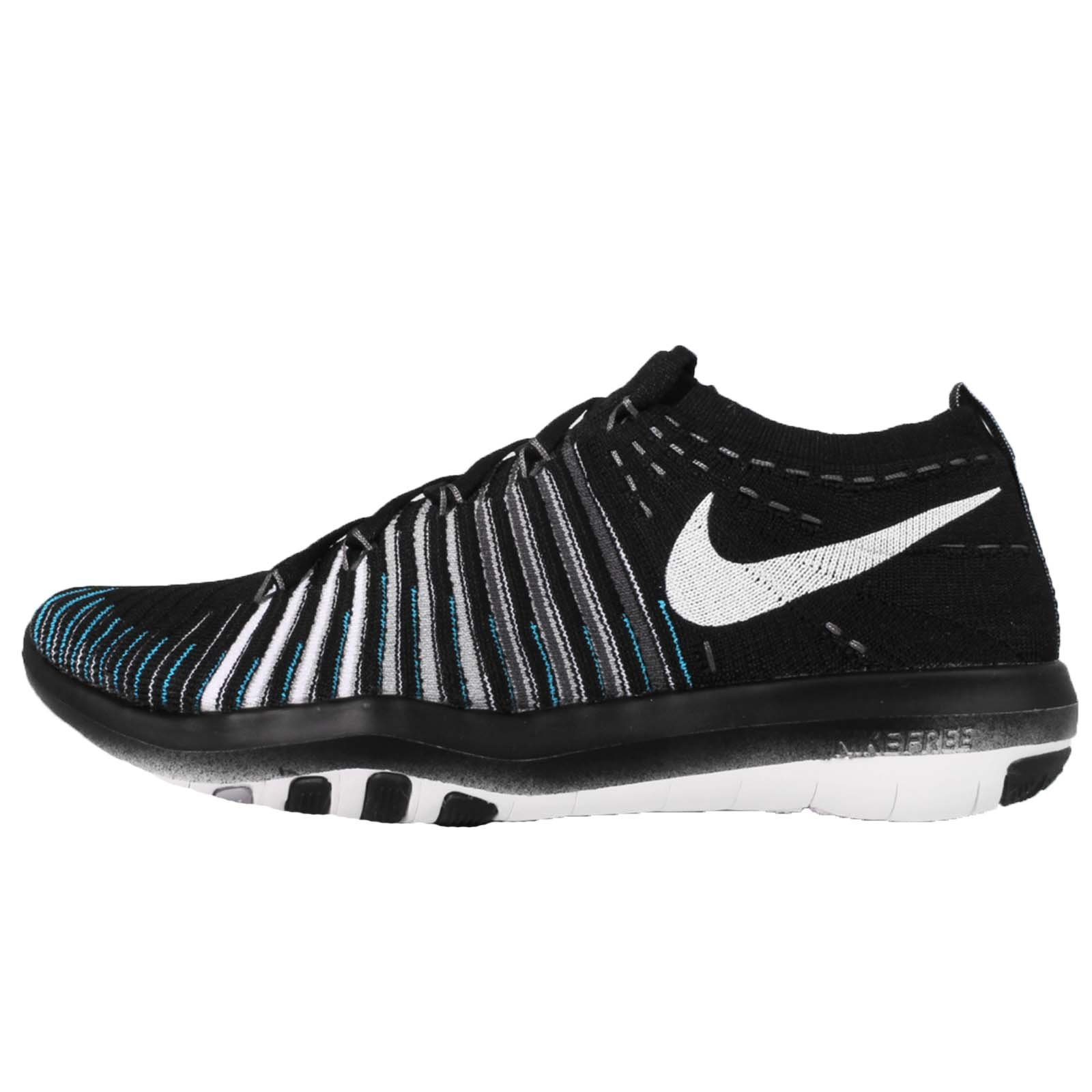 Nike Women's Free Transform Flyknit Training Shoe, BLACK/WHITE-WOLF GREY-DARK GREY, 10 B(M) US