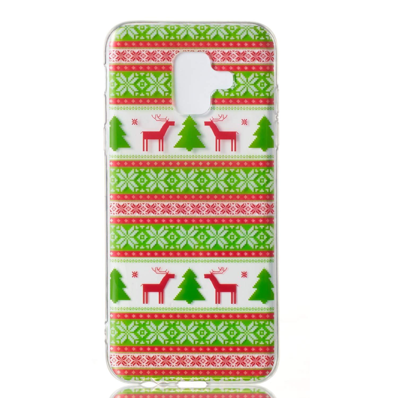 Karomenic Weihnachten Silikon H/ülle kompatibel mit Samsung Galaxy A6 2018 Christmas Schutzh/ülle Weiche TPU Durchsichtig Handyh/ülle Crystal Klar Transparent Sto/ßfest Tasche Case Cover Bumper Schale,#4