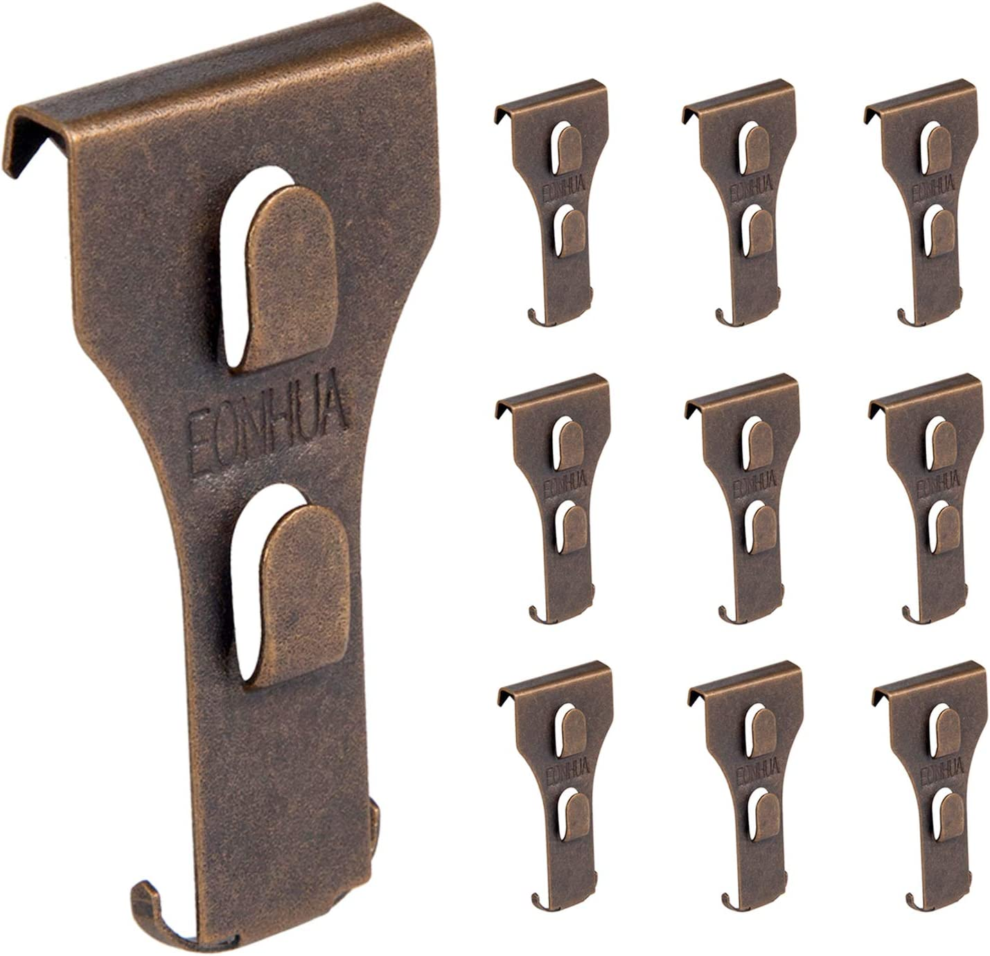 EONHUA Brick Hook Clips for Hanging- Brick Wall Clips for Hanging,Steel Hooks Brick Lights Wreaths Pictures Hanger Fits Brick 2 1/4 to 2 3/8 inch in Height (10PCS (Fits Brick 2 1/4 to 2 3/8))