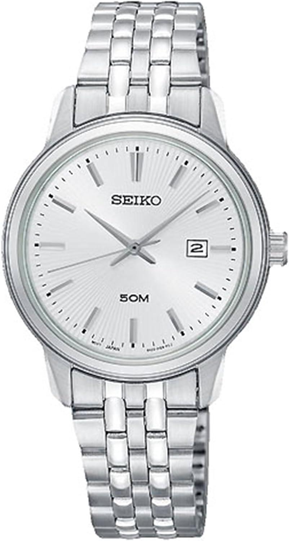 Seiko Neo Sports Reloj para Mujer Analógico de Cuarzo con Brazalete de Acero Inoxidable SUR667P1