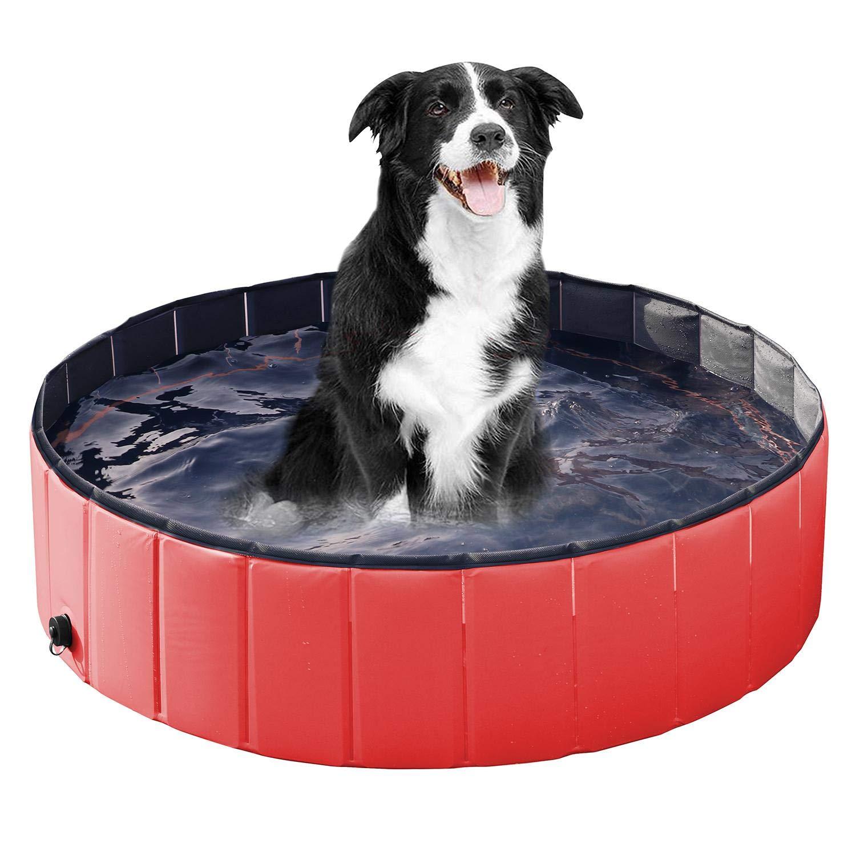 per offrirti un piacevole shopping online Beyondfashion, piscina piscina piscina per cani e gatti in PVC, colore rosso, vasca da bagno in varie misure  negozio online