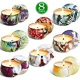 XYUT 2.5 Oz Pure Soy Wax Travel Tin Scented Candle Set, Lead-Free Wick, Aromatherapy Candles Lemon, Lavender…