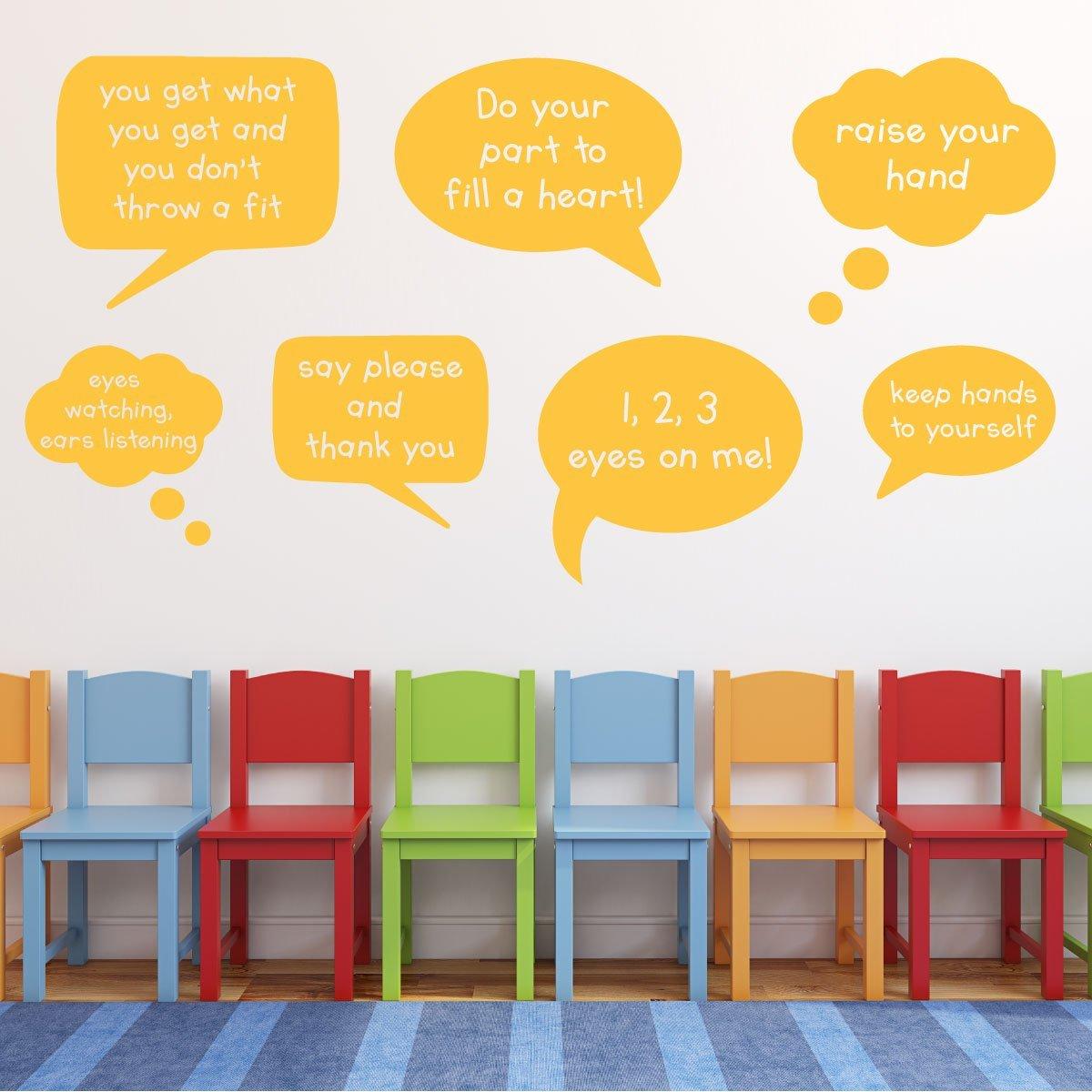 Amazon.com: Classroom Decorations- Customized Classroom Rules Speech ...