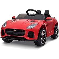 Homcom Voiture électrique Enfants 6 V - V. Max. 5 Km/h Effets sonores + Lumineux télécommande Jaguar F-Type SVR coupé Rouge