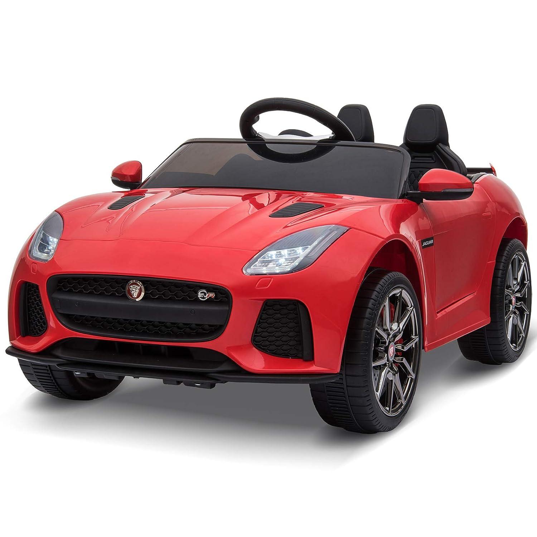 HOMCOM Jaguar Elektroauto Kinderfahrzeug mit Fernbedienung Musikfunktion 3-8 Jahre PP Rot 110 x 65 x 48 cm