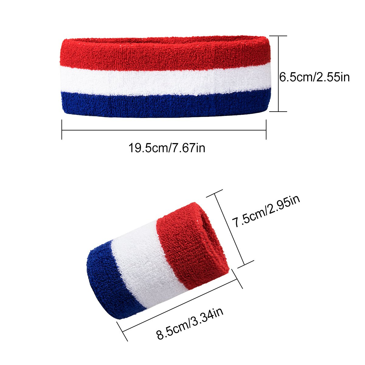 Amariver Sports Headbands Wristband Set Wristband for Athletic Exercise Basketball Wrist and Headbands for Moisture Wicking Absorbing Head Band