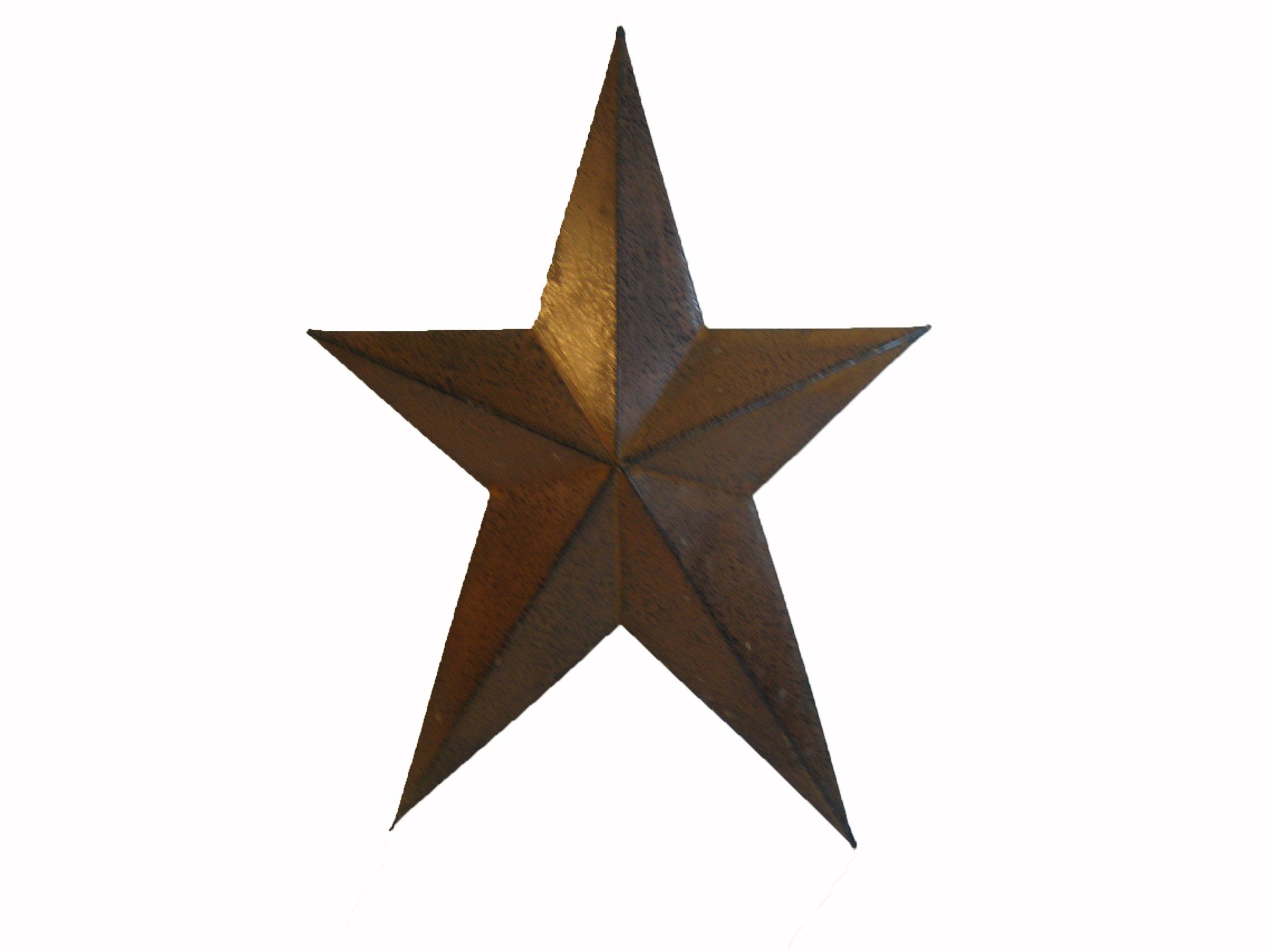 Craft Outlet Primitive Star Wall Decor, 12-Inch, Rust, Set of 4