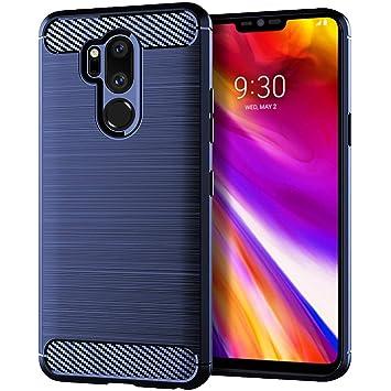 Aksuo LG G7 ThinQ Funda Textura Fibra de Carbono , TPU ...