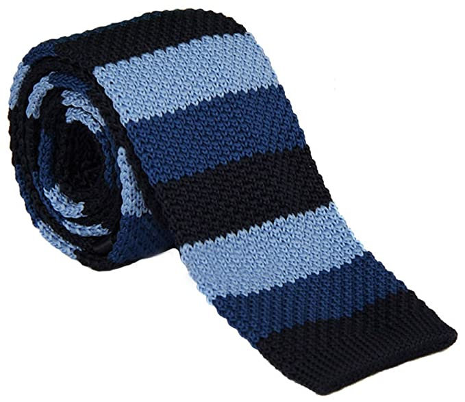 Tigre Amore Knit Tie For Men Casual Design Knitted Ties Navyblue